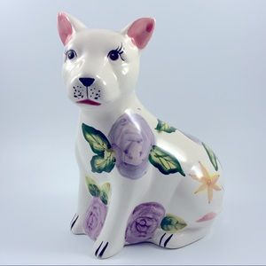 Dog figurine coin bank